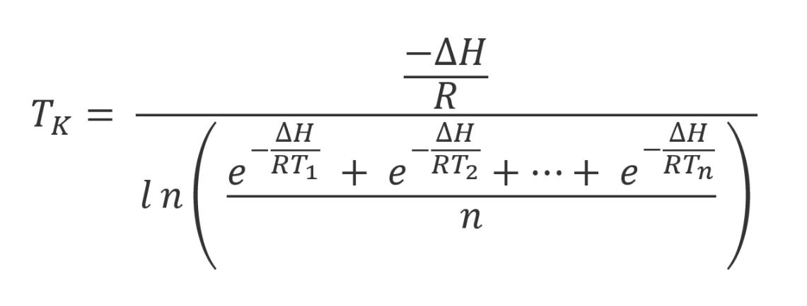 Mean Kinetic Temperature Formula