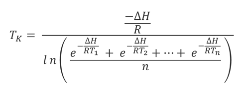 Mean Kinetic Temperature Formula